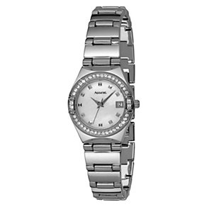 Accurist Ladies' Stainless Steel Stone Set Bracelet Watch - Product number 9230742