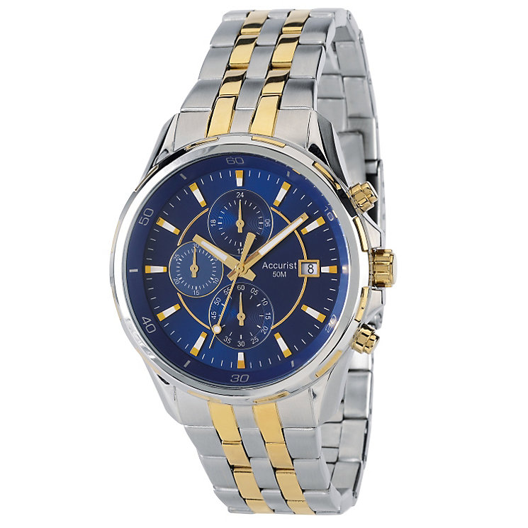 Accurist Men's Stainless Steel Chronograph Bracelet Watch - Product number 9230777