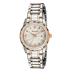 Accurist Ladies' Rose Gold & Stainless Steel Bracelet Watch - Product number 9230785