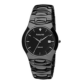 Accurist Men's Black Ceramic Bracelet Watch - Product number 9230912