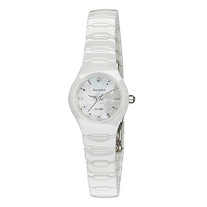 Accurist Ladies' White Ceramic Bracelet Watch - Product number 9230939