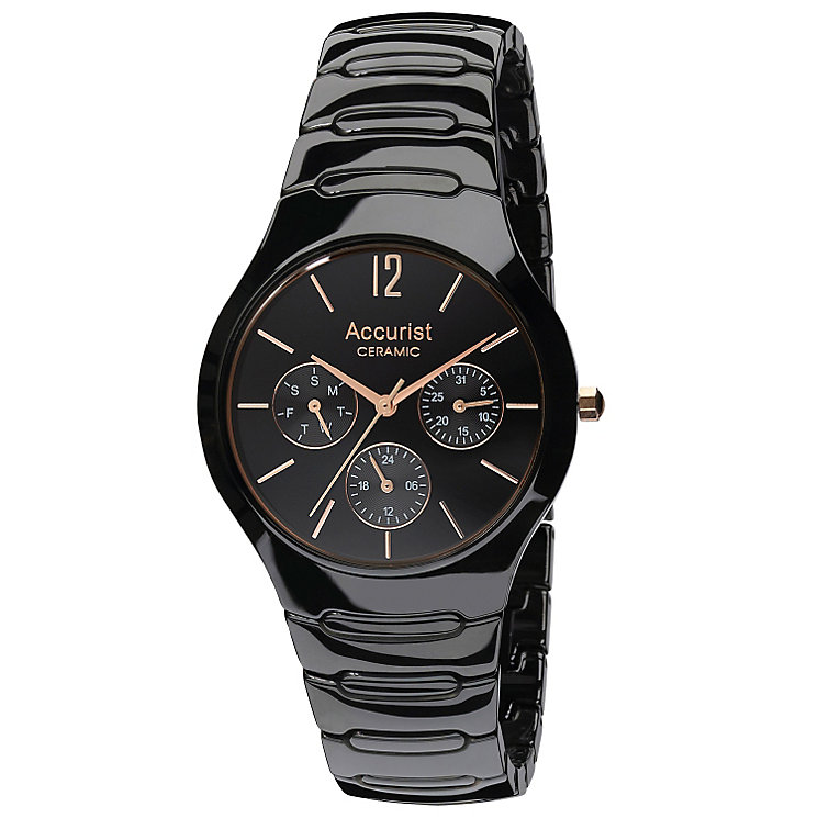 Accurist Men's Black Ceramic Bracelet Chronograph Watch - Product number 9230955