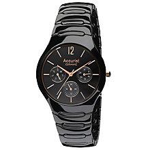 Accurist Men's Black Ceramic Bracelet Chronograph Watch - Product number 9230955