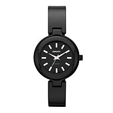DKNY ladies' black ceramic bangle watch - Product number 9231587