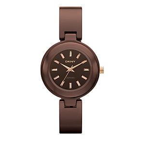 DKNY ladies' brown ceramic bangle watch - Product number 9231668