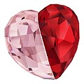 Swarovski Crystal Pink & Siam Love Heart - Product number 9231978