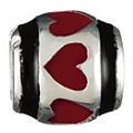 Chamilia silver and red heart bead - Product number 9232419