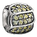 Chamilia silver jewel petals golden cubic zirconia bead - Product number 9232737
