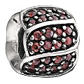 Chamilia silver jewel petals red cubic zirconia bead - Product number 9232745