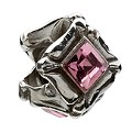 Chamilia silver princess cut pink cubic zirconia bead - Product number 9232796