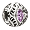 Chamilia sterling silver February Swarovski birthstone bead - Product number 9233253