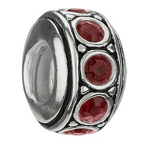 Chamilia sterling silver January birthstone wheel bead - Product number 9233547