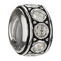 Chamilia sterling silver April birthstone wheel bead - Product number 9233628