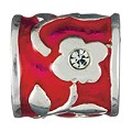Chamilia silver and red flower bead - Product number 9233644