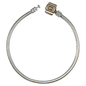 Chamilia silver & 14ct yellow gold 18cm snap bracelet - Product number 9233717