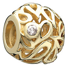 Chamilia - sterling silver & 14ct gold Hollow Leaves bead - Product number 9233873
