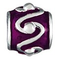 Chamilia silver and purple swirl bead - Product number 9234063