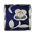 Chamilia silver dark blue flower bead - Product number 9234071