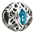 Chamilia sterling silver December Swarovski birthstone bead - Product number 9234799