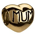 Chamilia 14ct yellow gold mum heart bead - Product number 9235051