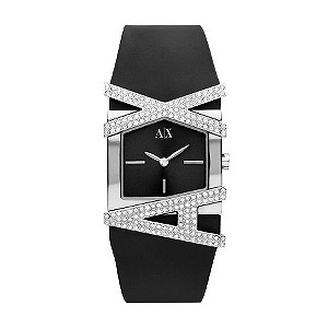 Armani Exchange Ladies' Black Stone Set Strap Watch - Product number 9241868
