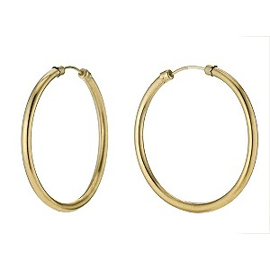 9ct Yellow Gold Rolled Gold 36mm Hoop Earrings - Product number 9242031