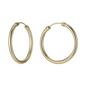 9ct Yellow Gold Rolled Gold 29mm Hoop Earrings - Product number 9242066