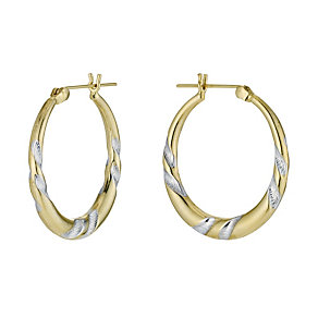 9ct Rolled Gold Creole Earrings - Product number 9242139