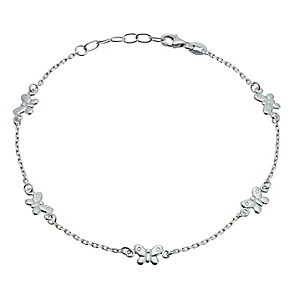Sterling Silver Butterfly Anklet - Product number 9242341