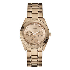 Guess Ladies' Rose Gold Bracelet Watch - Product number 9242600