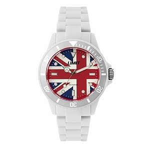 Limit White Union Jack Watch - Product number 9242813