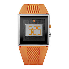 Boss Orange Men's Orange Rubber Strap Digital Watch - Product number 9242880