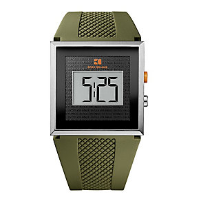 Boss Orange Men's Green Rubber Strap Digital Watch - Product number 9242996