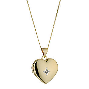 9ct Yellow Gold Jubilee Heart Locket - Product number 9243011