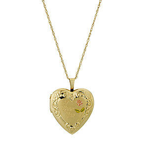 9ct Yellow Rolled Gold I Love You Locket - Product number 9243135