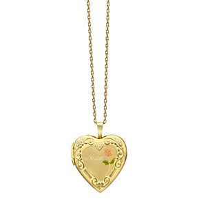 9ct Rolled Yellow Gold Mum Heart Locket - Product number 9243151