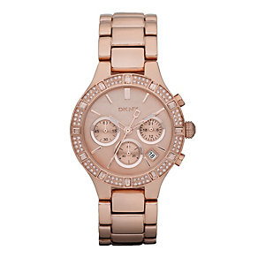DKNY Ladies' Rose Gold Plated Bracelet Watch - Product number 9244646