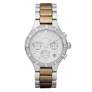 DKNY Ladies' Brown & Stainless Steel Bracelet Watch - Product number 9244670