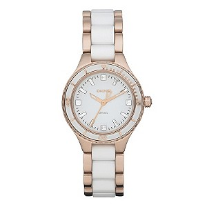 DKNY Rose Gold White Ceramic Bracelet Watch - Product number 9244840