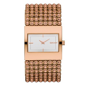 DKNY Ladies' Rose Gold Crystal Set Watch - Product number 9244875