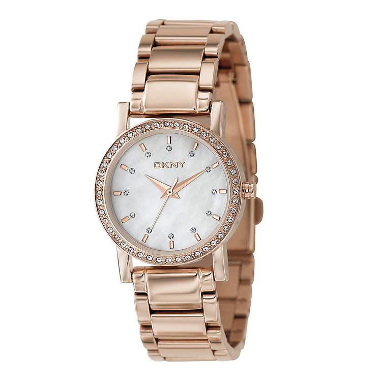 DKNY Ladies' Rose Gold Plated Bracelet Watch - Product number 9244883