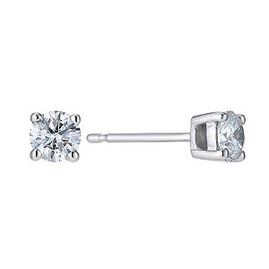 Platinum 1/2 carat diamond solitaire earrings - Product number 9246134
