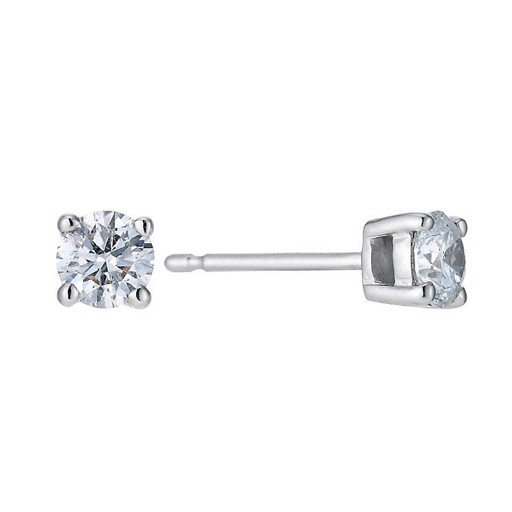 Platinum 0.50ct diamond solitaire earrings - Product number 9246134