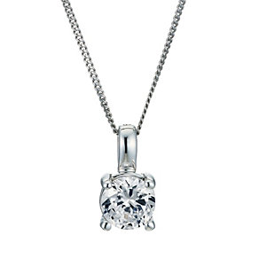 18ct white gold 66pt diamond solitaire pendant - Product number 9246142