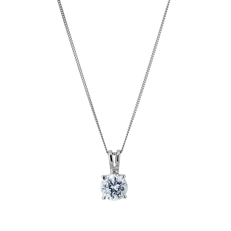 18ct white gold 1 carat solitaire pendant - Product number 9246185