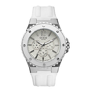 Guess Men's White Chronograph Strap Watch - Product number 9246371