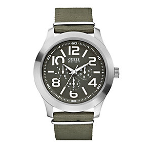 Guess Men's Canvas Strap Watch - Product number 9246436