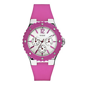 Guess Ladies' Pink Strap Chronograph Watch - Product number 9246584