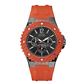 Guess Men's Orange Strap Watch - Product number 9246614