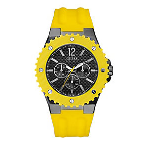 Guess Men's Yellow Strap Watch - Product number 9246622